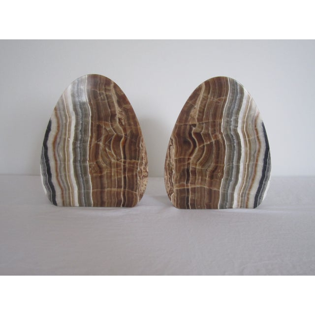 Image of Vintage Modern Italian Marble Bookends - Pair