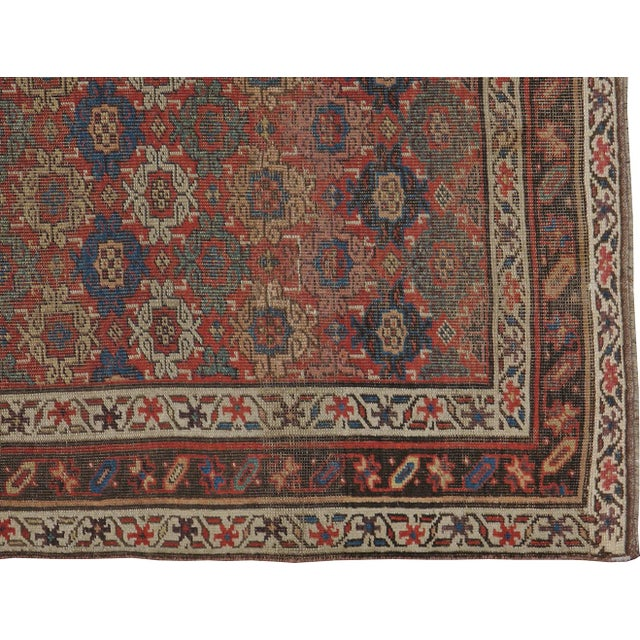 "Antique Persian Distressed Rug - 3'10"" X 6'6"" - Image 3 of 4"