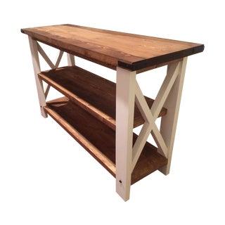 Contemporary Rustic Handmade Sofa Table