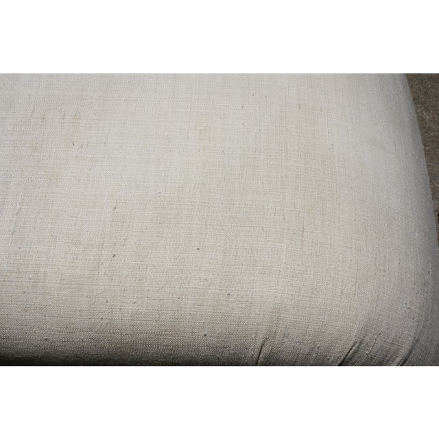 Milo Baughman Style Waterfall Upholstered Bench - Image 6 of 9