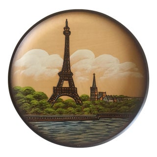 Pfaff Wooden Collectors Plate of Eiffel Tower