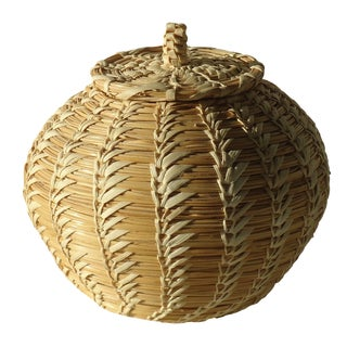Coiled Papago Lidded Basket
