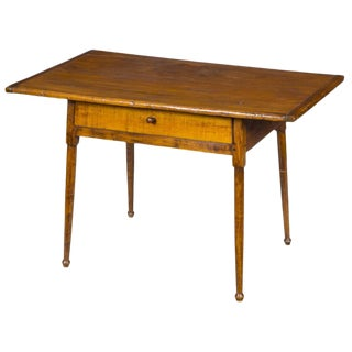Tavern Table with Overhanging Breadboard Top & Drawer