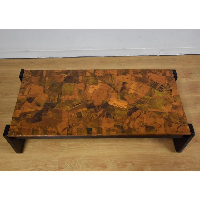 Lafer Brazilian Rosewood and Copper Coffee Table - Image 5 of 11