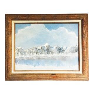 Vintage Mountain Oil Painting