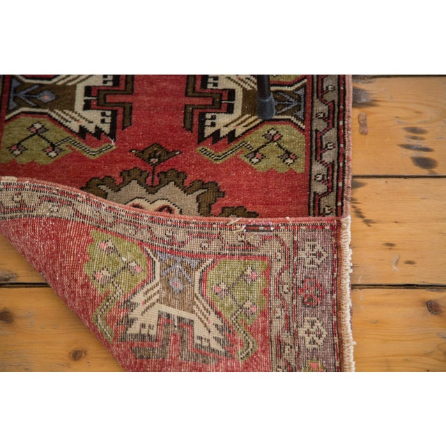 "Vintage Oushak Red Rug Mat - 1'7"" X 2'8"" - Image 5 of 7"