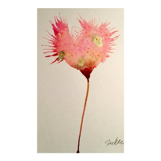 Pink Cotton Botanical Watercolor Painting