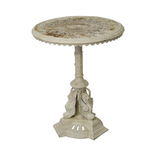 Antique Victorian Cast Iron Round Garden Table