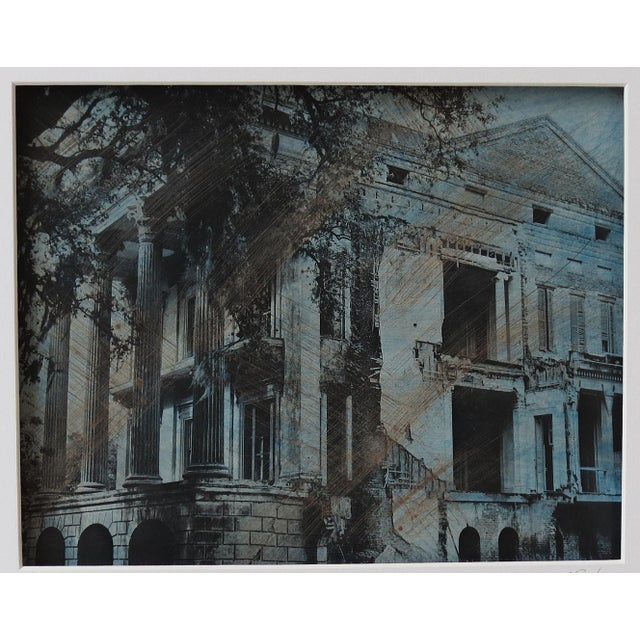 "Image of ""Grandeur and Decay"" Hand-Colored Photographic Framed Print"