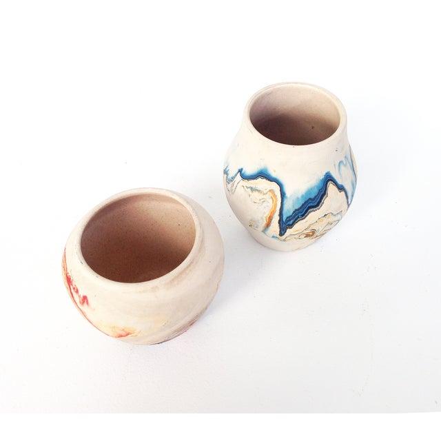 Image of Vintage Nemadji Pottery Vases - A Pair