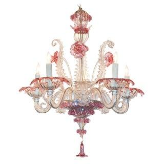 Early 20th C. Venetian Glass Chandelier