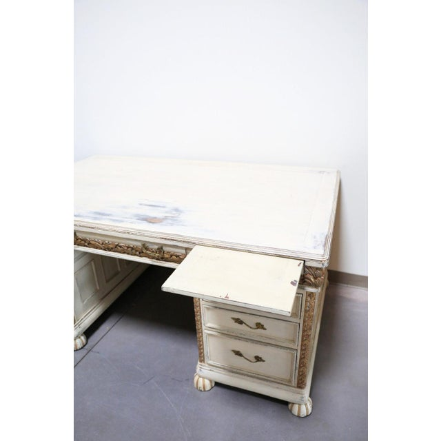 Antique White French Desk - Image 3 of 7