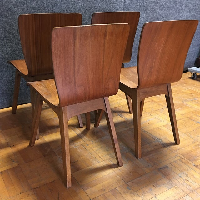 MCM Bentwood Dining Chairs - Set Of 4