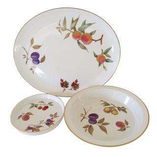 Royal Worcester Serving Dishes - Set of 3