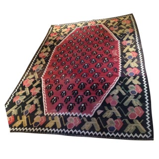 "Vintage Turkish Kilim Rug - 4' 6"" X 6' 10"""