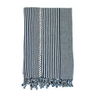 Striped Indigo Blanket