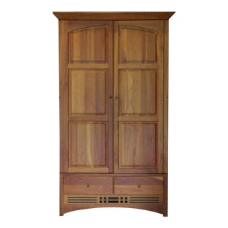 Vintage Harden Mission Style Solid Cherry Armoire