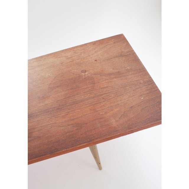 Image of Mid-Century Coffee Table With Brass Legs