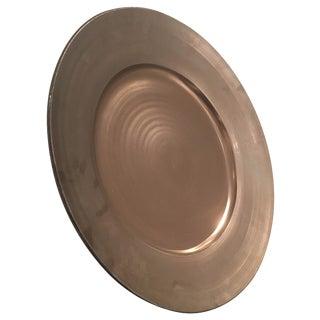Gary McCloy Metallic Glaze Ceramic Bowl/Plate With Stand