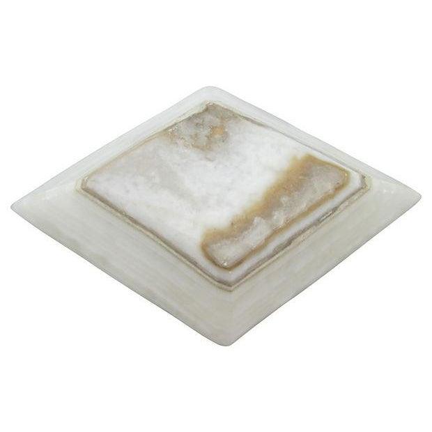 Image of Marquise Shaped Marble Ashtray