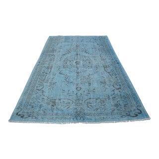 Blue Overdyed Turkish Rug