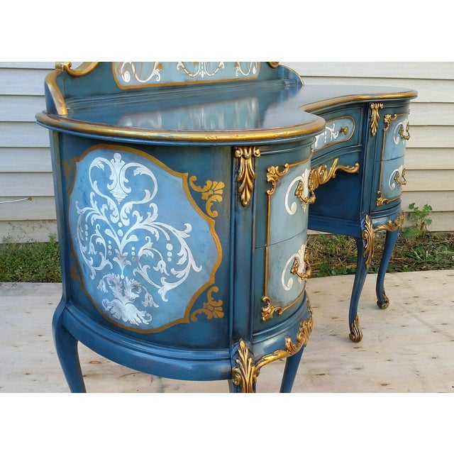 Hand-Painted French Desk - Image 6 of 10