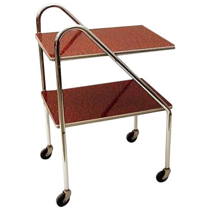 Art Deco Machine Age Bar Cart - Image 1 of 7
