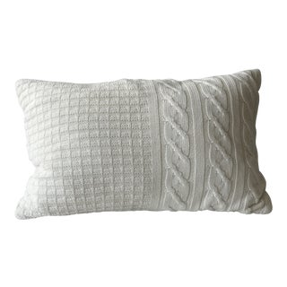 Contemporary Cream Knit Pillow
