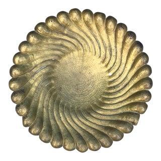 Egidio Casagrande Brass Footed Platter