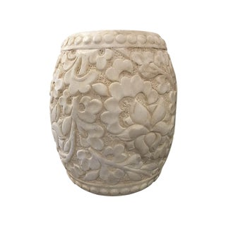 Carved Marble Stool