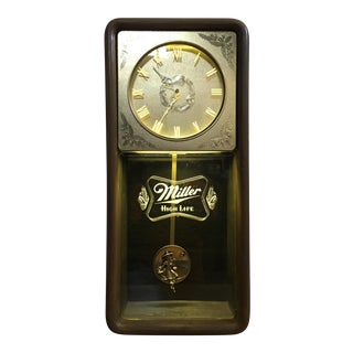 Vintage Miller High Life Beer wall clock.