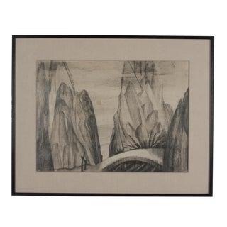Charcoal on Paper by Boris Lovet-Lorski, circa 1925