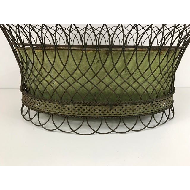 Image of Antique French Wirework Planter