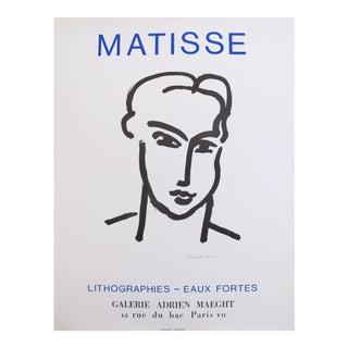 1964 Henri Matisse Poster, Grande tete de Katia