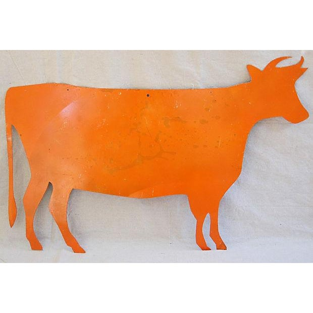 Image of Reclaimed Metal Dairy Cow Silhouette