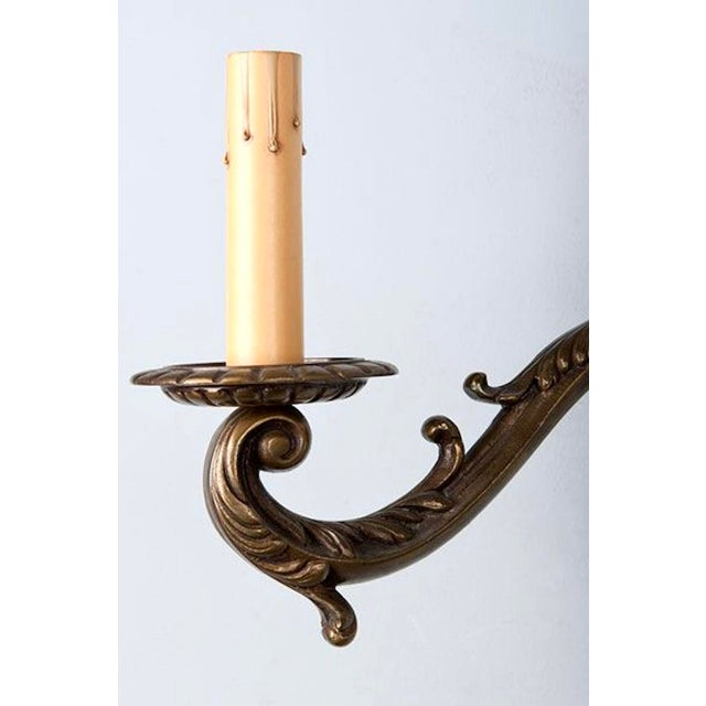 Wall Sconces Bronze : Pair French Double Arm Two Light Bronze Wall Sconces Chairish