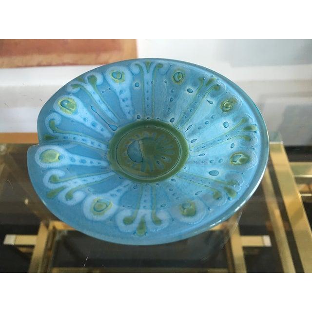 Blue Art Glass Higgins Style Dish - Image 4 of 6