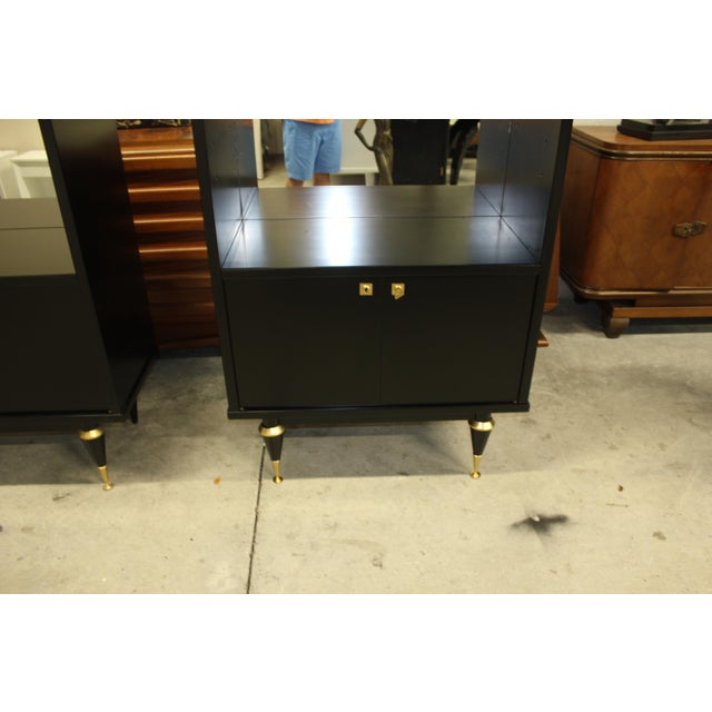 French Art Deco Sideboard Display Cabinets - A Pair Circa 1940s - Image 9 of 12