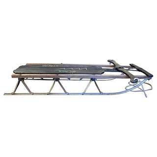 Vintage Black Wood Sled