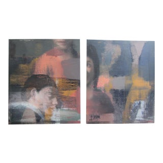 """""""Shapes & Faces"""" Diptych by Philip Buller"""