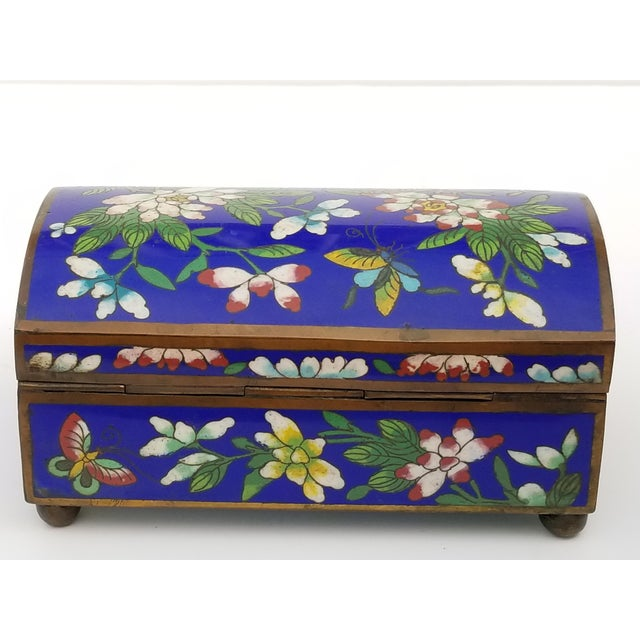 Antique Chinese Cloisonne Box - Image 5 of 11