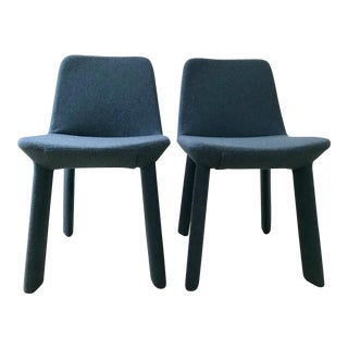 Blu Dot Marine Blue Neat Dining Chairs - a Pair