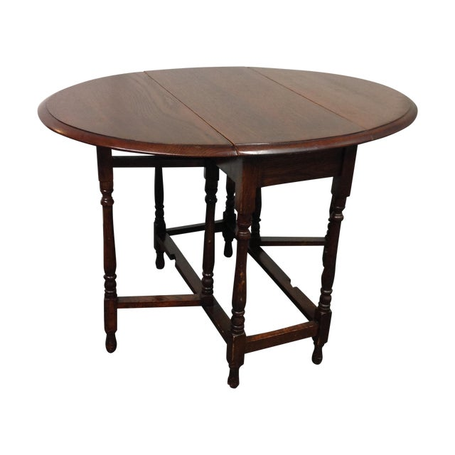Vintage Convertible Occasional Table - Image 1 of 10