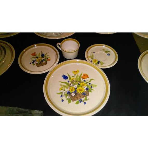 1950s Vintage Japanese Mikasa Stone Manor Garden Bouquet - Set of 54 - Image 4 of 10