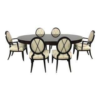 Barbara Barry Oval Table Dining Set for Baker