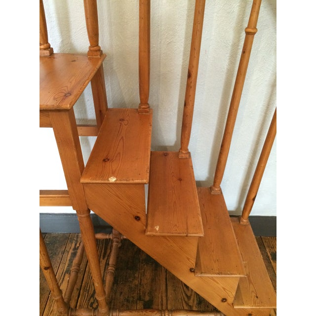 Tall Vintage Oak Library Steps - Image 3 of 6