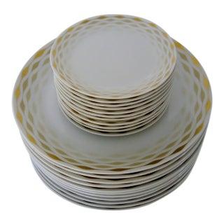 Vintage Bavarian Porcelain Plates - Set of 22