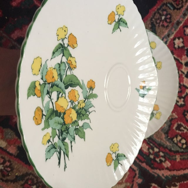 Staffordshire Cornwall Scalloped Teacup Dessert Plates - Set of 4 - Image 4 of 7
