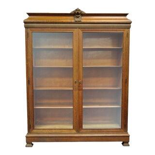 Victorian Lion Head Gold Bookcase