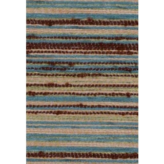 B. Berger Blue & Brown Chenille Fabric 5 Yards